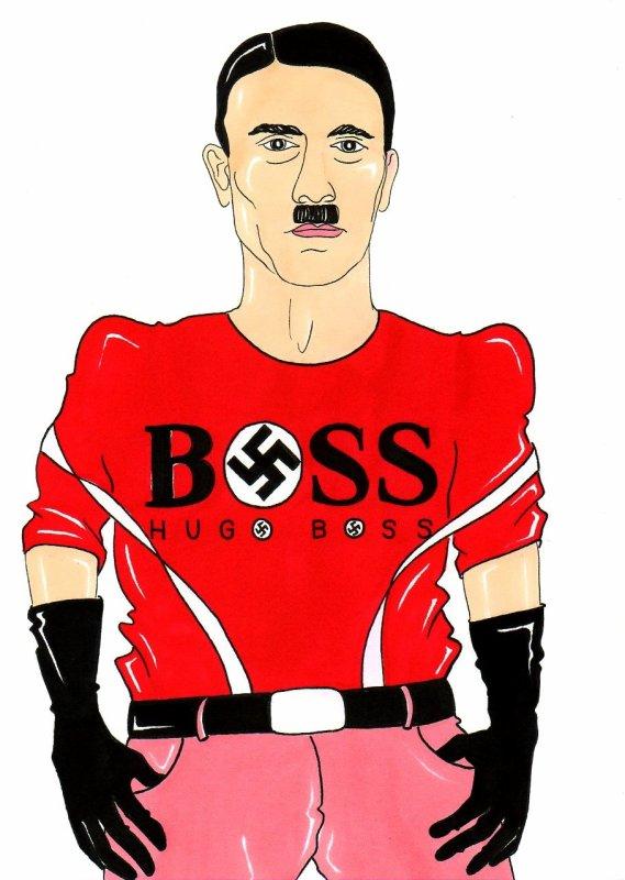 Hugo Ferdinand Boss adhère au** PARTI NAZI** De 1933 à la fin de la Seconde Guerre mondiale en 1945,