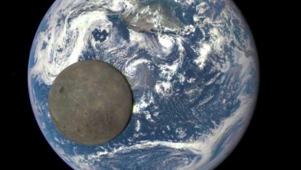 La Terre et la face cachée de la Lune réunies sur la même photo