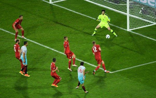 La Turquie l'emporte face à la République Tchèque (2-0)