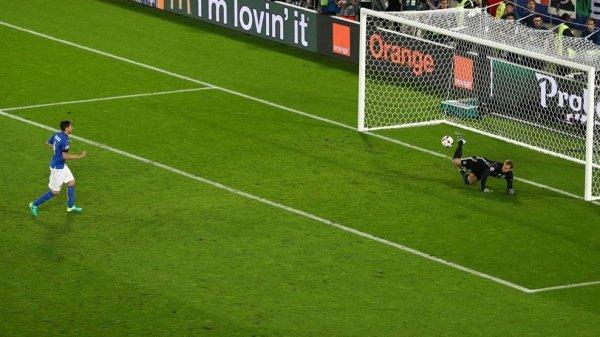 Les tirs au buts du match Allemagne - Italie
