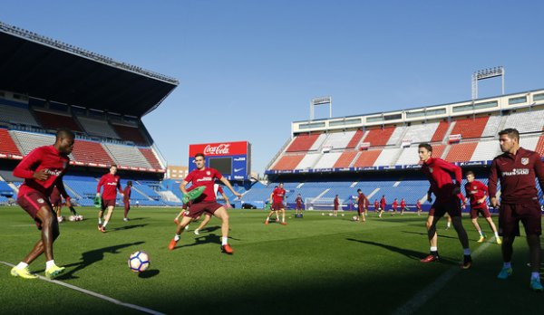 Dernier entrainement avant le match face au Deportivo