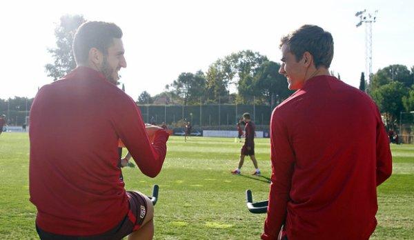 Preparation au match de ligue des champions face au Bayern Munich