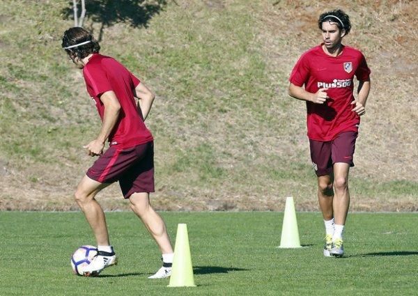 Entrainement en vue du prochain match de liga face à Valence