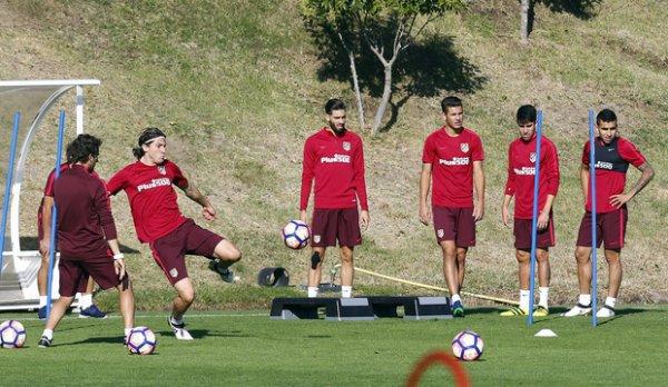 Dernier entrainement avant le match face à Valence