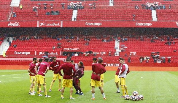 Photo de l'entrainement avant le match