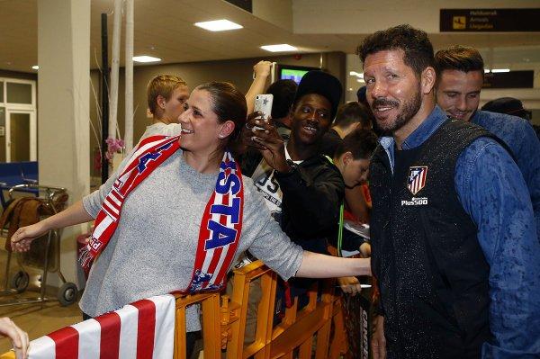 Les Colchoneros rencontrent leurs fans