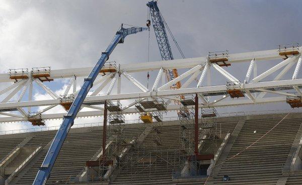 La construction du stade avance !!!