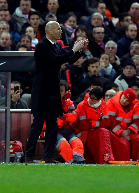 Face à face Simeone/Zidane