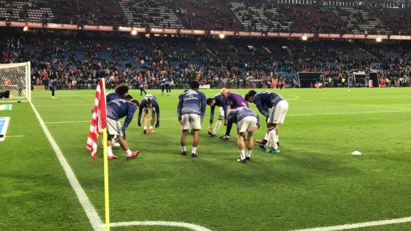 L'entrainement avant match