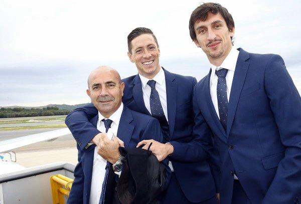 Les Colchoneros à l'aéroport