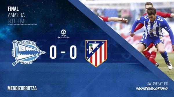 Match nul pour l'Atlético Madrid face à Alavès (1-1)