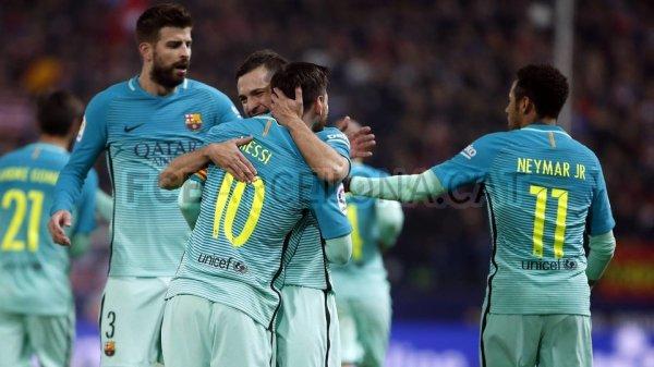 L'Atletico Madrid s'incline face au FC Barcelone (1-2)