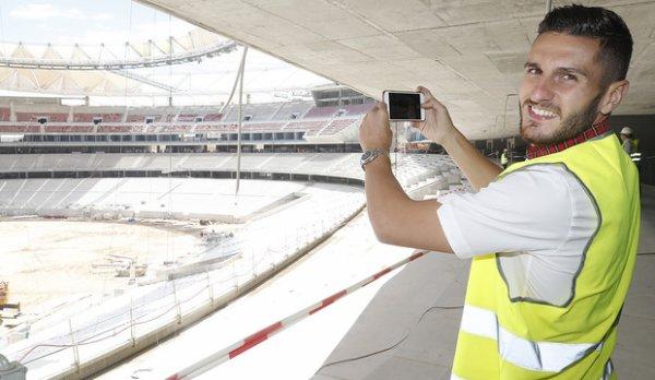 L'équipe visite le Wanda Metropolitano