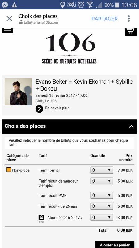 Evans Becker concert le 18 février 2017