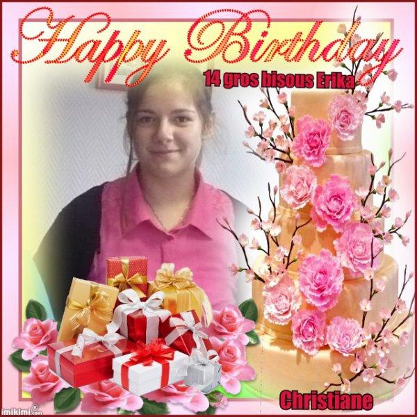Joyeux anniversaire ma Princesse Erika.