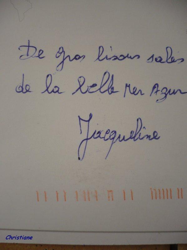Merci Jacqueline.
