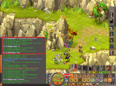 Quelques screens, dont Dofus Vulbis.