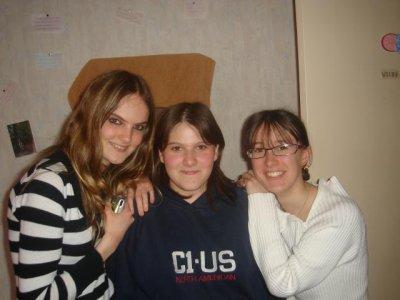 Justine,Cynthia , Crevette