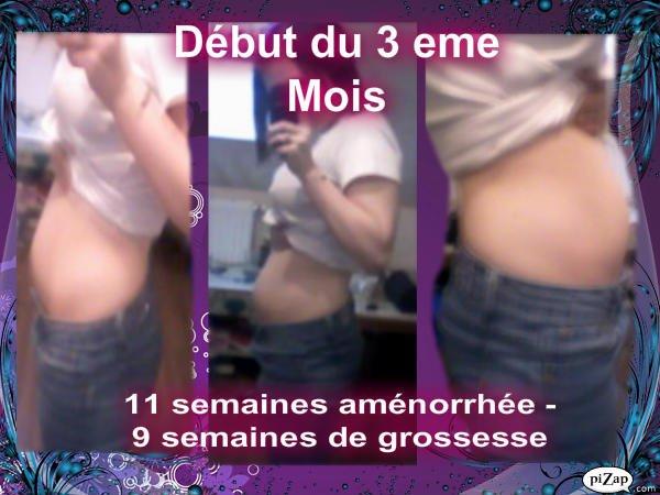 11 semaines aménorrhée --- 9 semaines de grossesse