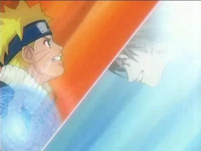 naruto (rasengan) vs sasuke ( chidori)