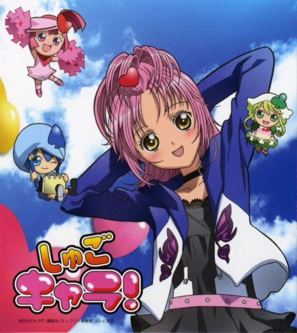 Présentation des personnages : Amu Hinamori et ses shugos charas