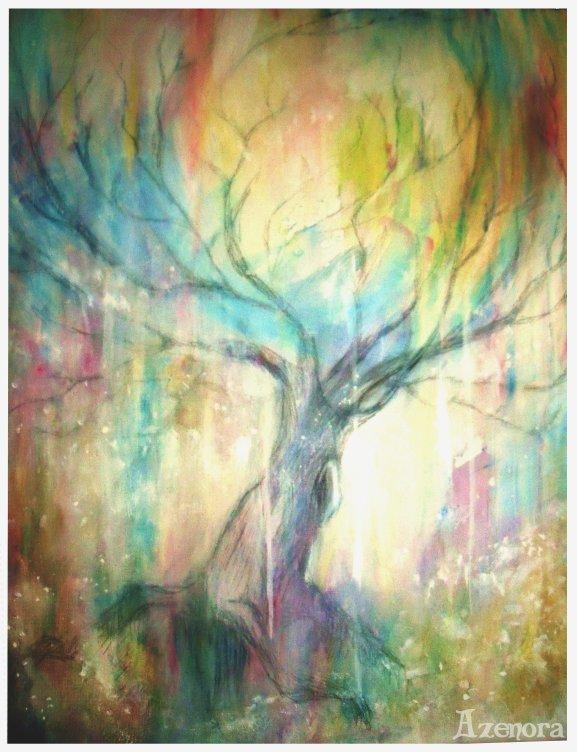 Petite peinture sur toile complètement spontanée :)