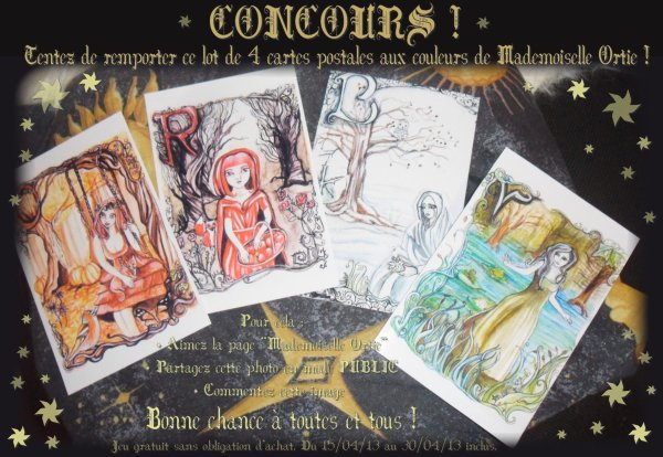 "Concours sur ma page ""Mademoiselle Ortie"" ! Facebook"