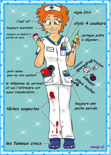 petites blagounettes sur les infirmières que j'adore (respect total pour leur dévouement)