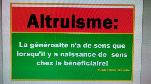 Donner le sens à l'altruisme