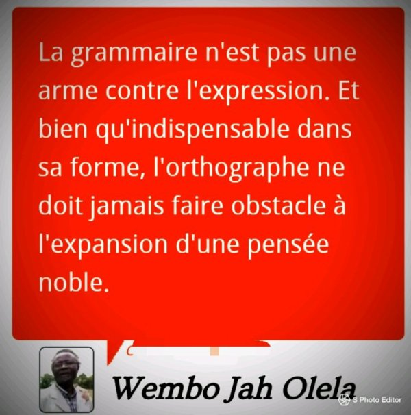 La grammaire, crime contre l'expression