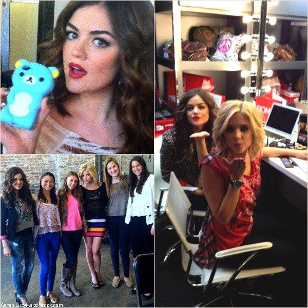 Le 6 Mai 2012 | Lucy et Ashley étaient à un Photoshoot de la Marque Bongo, dont elles sont l'éfigie, à New-York. Voici les Behind the Scene.