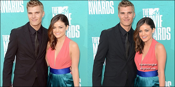 03.06.12 : Lucy Hale et Chris Zylka  lors des MTV Movie Awards