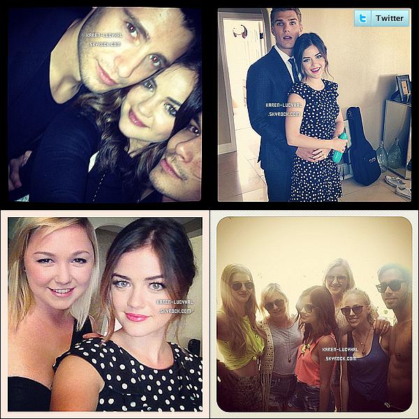 Voici des photos personnelle de Lucy publier sur son twitter personnelle.