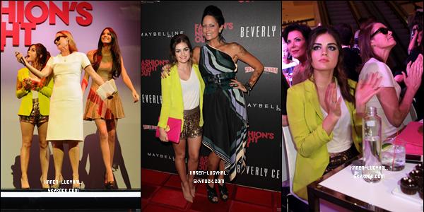 Le 7 septembre dernier a eu lieu le célèbre évènement de la Fashion's Night Out à Los Angeles, au Beverly Center Lucy Hale y était présente.