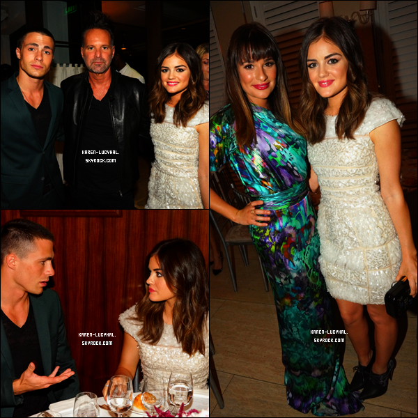 Lucy était hier de sortie à l'évènement du magazine NYLON et de la marque Sony! Découvrez les photos de l'actrice en compagnie de Colton Haynes (Teen Wolf) et Lea Michele (Glee) !