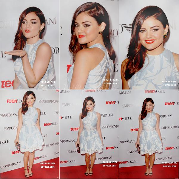 Le 27 Septembre dernier  Lucy Hale s'est rendue à un évènement organisé par Teen Vogue pour célébrer le 10ème anniversaire de Young Hollywood. Top ou Flop?!
