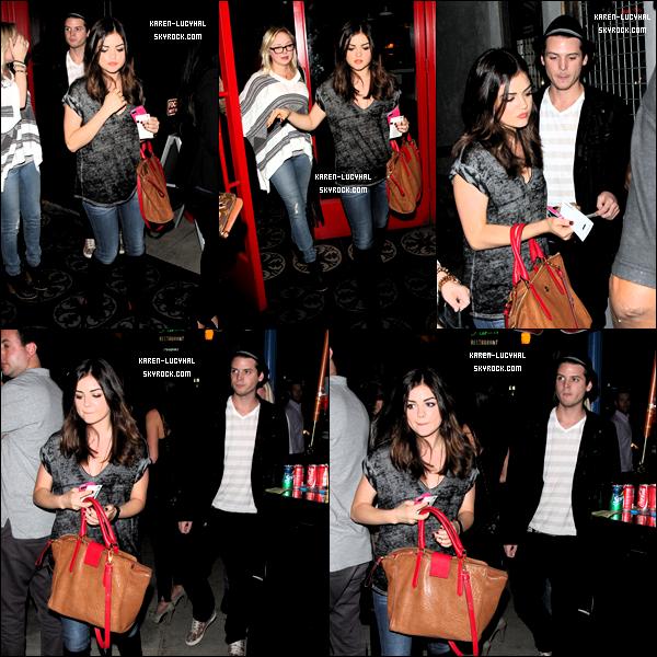 18 Octobre 2012 Lucy et Ses meilleurs amis,Annie Breiter et Drew Osborne, étaient au concert du groupe ZZ Ward à Los Angeles Top ou flop?