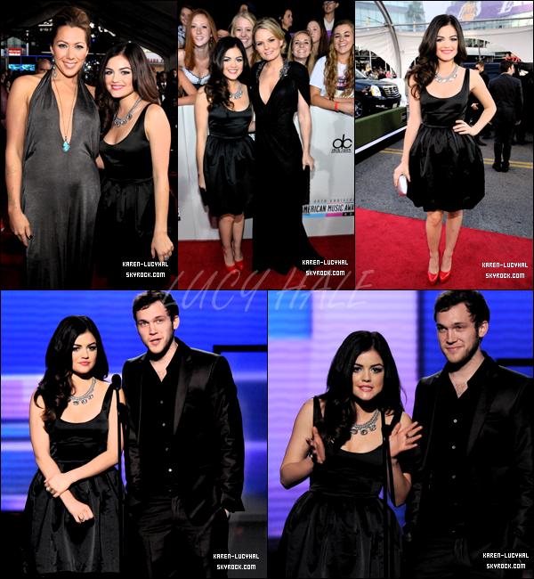 18 Novembre 2012 Lucy était à la célèbre cérémonie des American Music Awards + une vidéo interview. Top ou Flop?