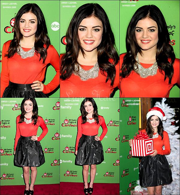 3 Décembre 2012 Lucy a été aperçu allant à l'émission The Rachael Ray Show à NYC pour promouvoir Pretty Little Liars ! J'ai hate de voir l'émission!
