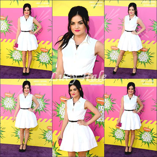 23 Mars 2013  Lucy était présente aux Kids Choice Awards 2013 Elle était magnifique!