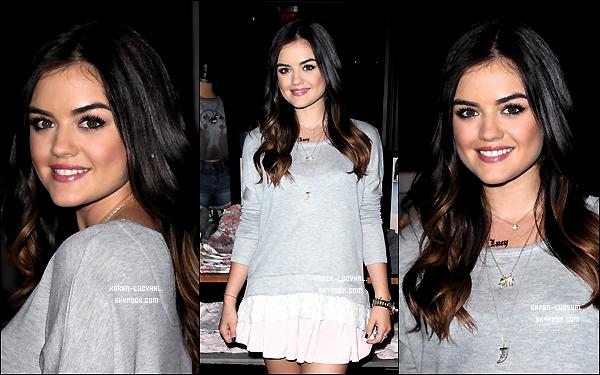 9 Aout 2014  Lucy était au lancement de sa collection pour Hollister à L.A..