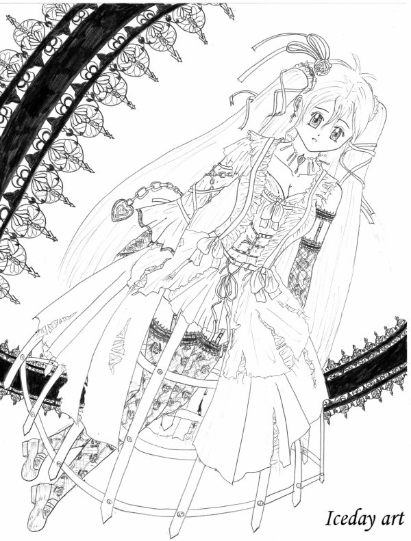 Black lace princess