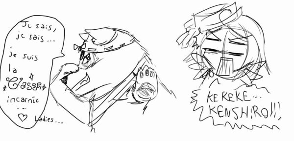 Kenshiro, voleur de culotte !! XD