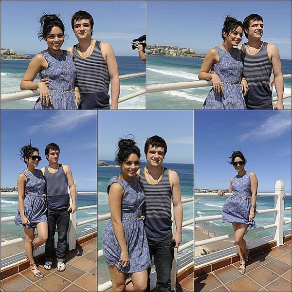 """: 18/01/2011 : Vanessa et Josh ce sont rendut a une station de radio, toujours pour la promo de Journey 2.Un TOP pour Vanessa qui porte une robe de """"Bec & Bridge """" !  :"""