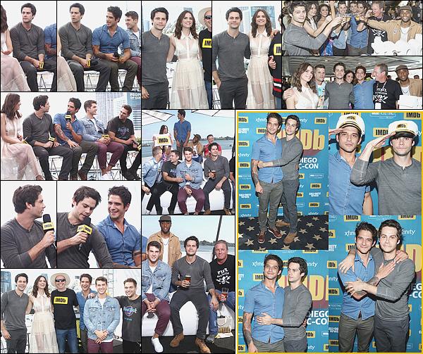 """. """"20/07/17"""" ▬ Dylan et ses co-stars de la série Teen Wolf ont assisté à l'évènement #IMBD Boat à San Diego. Dylan a surpris les fans en participant au Comic-Con 2017 puisque son grave accident l'avait empêché d'assister aux précédents rendez-vous. ."""