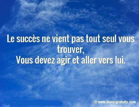 le succès ne vient pas tout seul