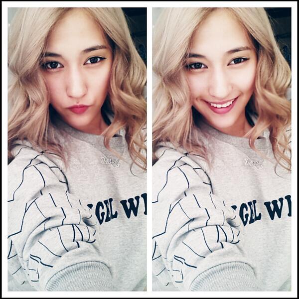 020513 {TWITTER} ♥ Nouvelle couleur de cheveux pour Melanie