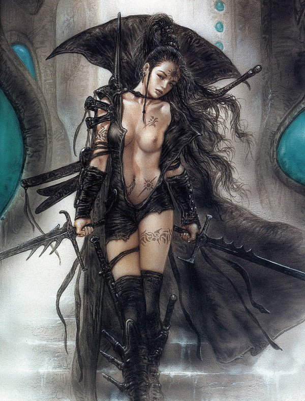 Luis Royo - Alia and View of the Valley of Doom
