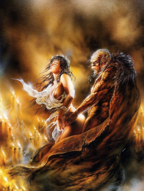 Luis Royo -  Fantastic art - The furtive sign