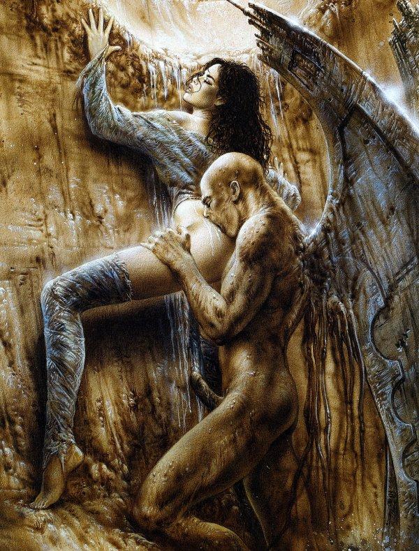 Luis Royo - Fantastic art - Fallen angel II